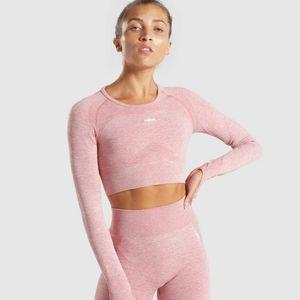 Gymshark flex crop top pink